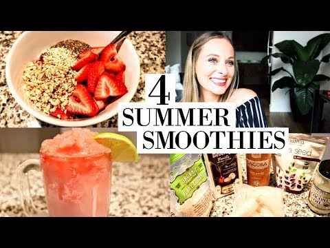 HEALTHY CLEAN SUMMER SMOOTHIES - VEGAN APPROVED! 2017