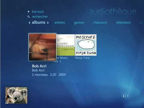Windows Media Center - Lire un fichier multimedia.avi.AVI
