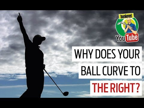 Why does your golf ball curve to the right?