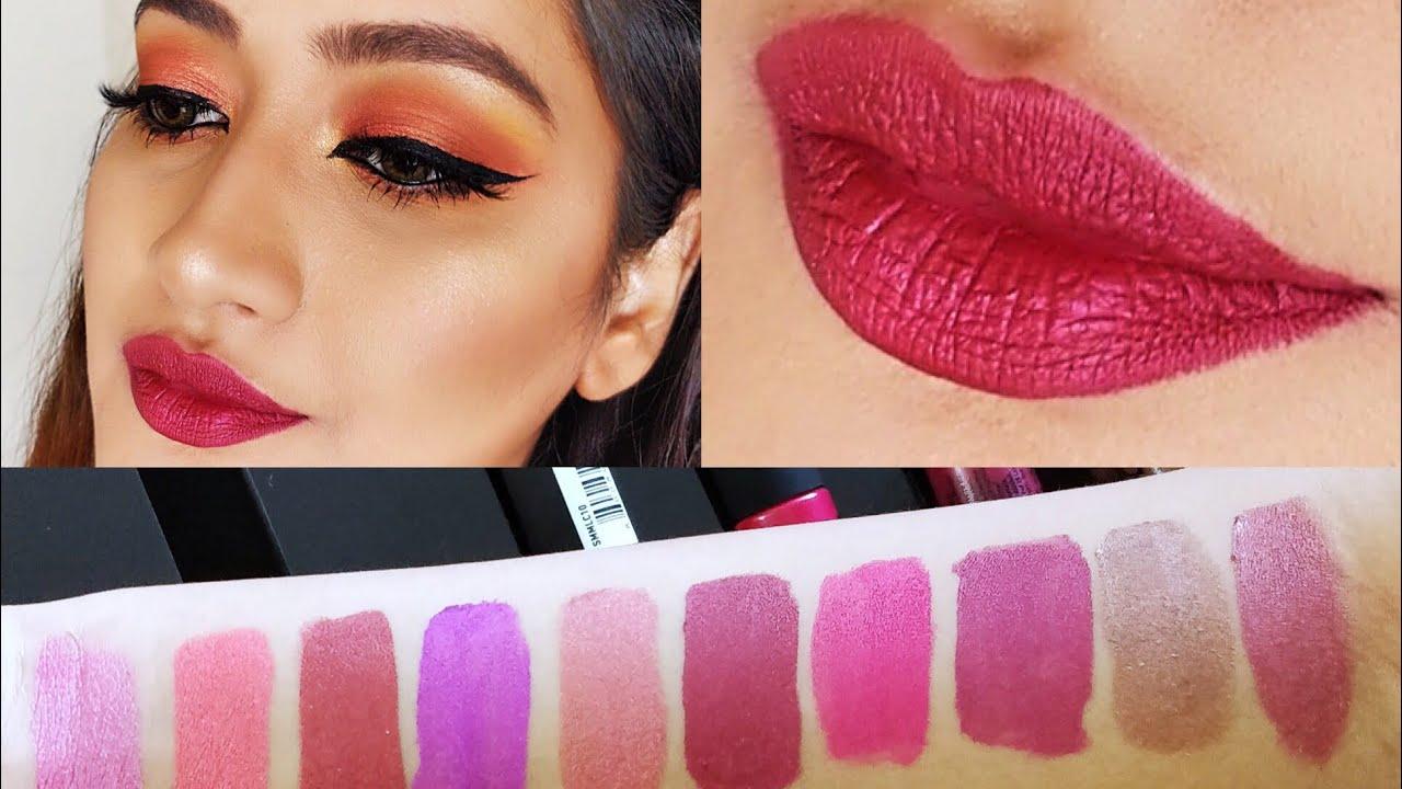 Nyx Soft Matte Metallic Lip Cream Swatches Youtube