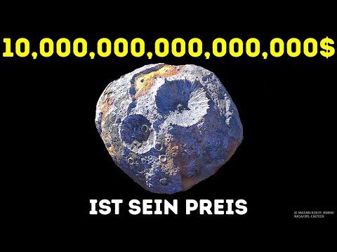 Asteroid gefüllt mit Gold und die teuersten Objekte im Weltraum