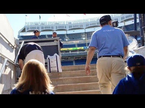 On-field access at Yankee Stadium!