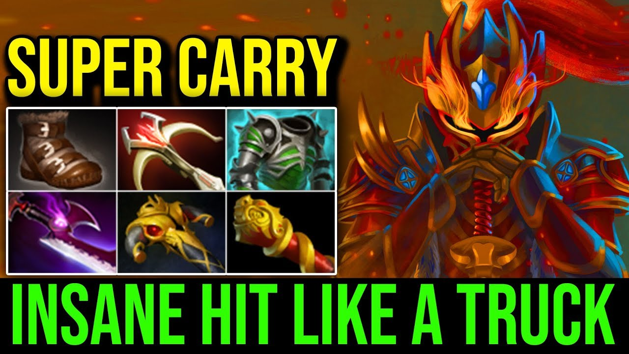 Super Carry Dragon Knight Insane Hit Like A Truck With Max Damage Kills Dota  Highlights