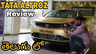 Tata ALTROZ review in telugu|Altroz top-end features|telugu car review
