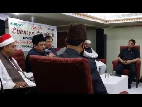 Moulana Peer Syed Shabbir Naqshbandi Addressing Iftar In IK London Hotel Hyderabad