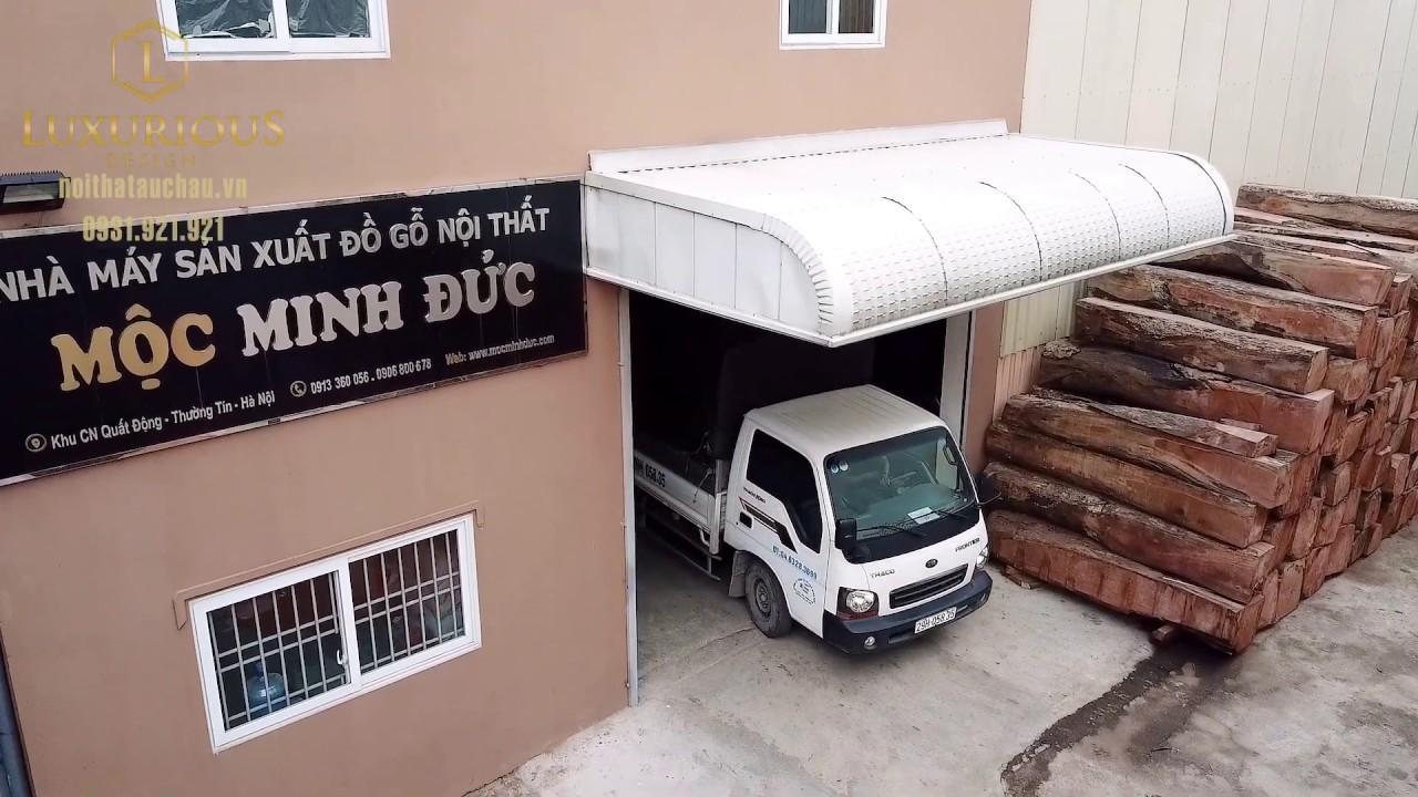Nhà máy Sản xuất đồ gỗ nội thất Mộc Minh Đức - Thương hiệu Luxurious Design - YouTube
