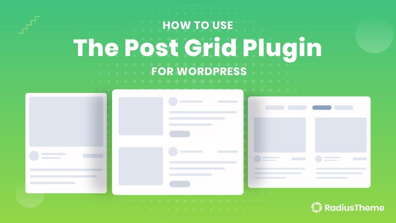 The Post Grid – WordPress plugin | WordPress org