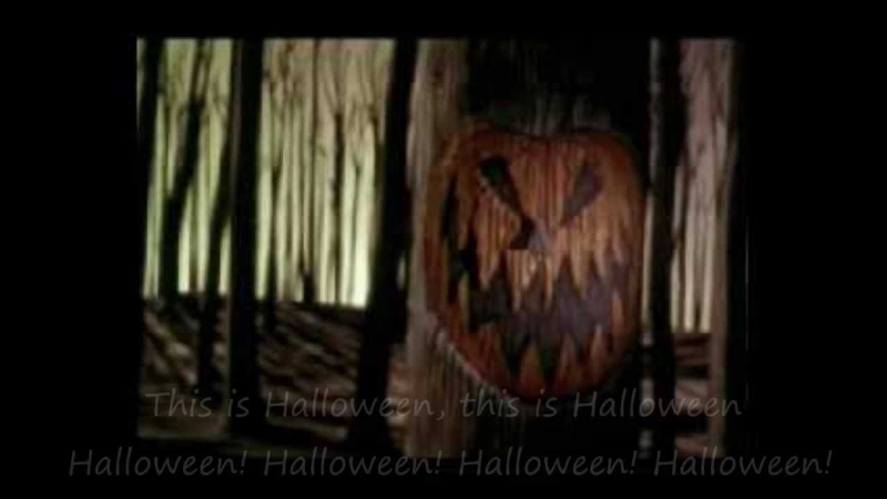 nightmare before christmas - this is halloween with lyrics - youtube
