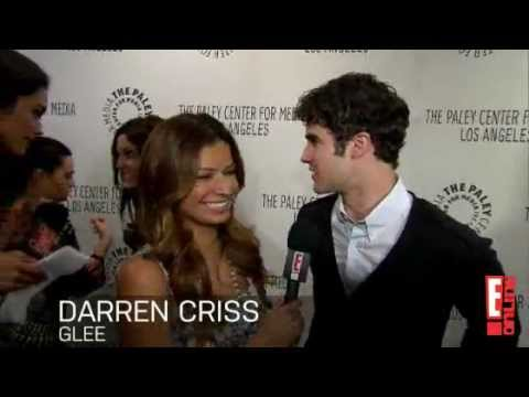 Chris and Darren talk about their kiss on Glee