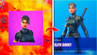 "NEW! ""ELITE AGENT SKIN"" - Fortnite Stage 2 Season 8 FREE SKIN STAGE 2 (NEW! Elite agent mask off)"
