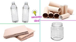 4 SIMPLY AND FAST DIY's YOU CAN MAKE WHEN YOU'RE BORED! Best Reuse Idea