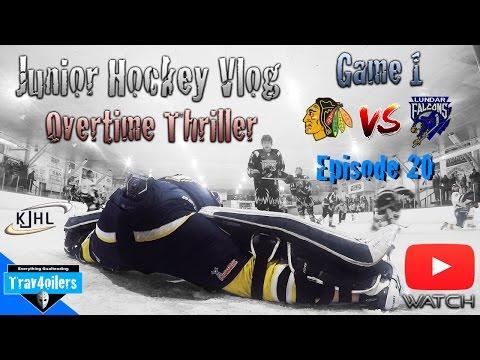 Junior Hockey Vlog Ep. 20 Mic'd | Playoffs Game 1 | OT Thriller | GoPro [HD]