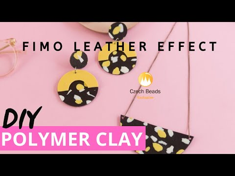 DIY FIMO Leather Effect Jewelry Set Easy Polymer Clay Tutorial