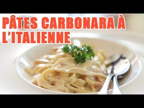 Meilleure recette de pates carbonara facile l 39 italienne - Youtube cuisine italienne ...