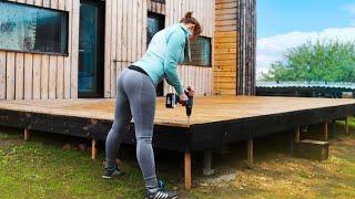 How To Build A Homemade Deck 350 sq ft | Amazing Handmade. Unique DIY Home Improvement