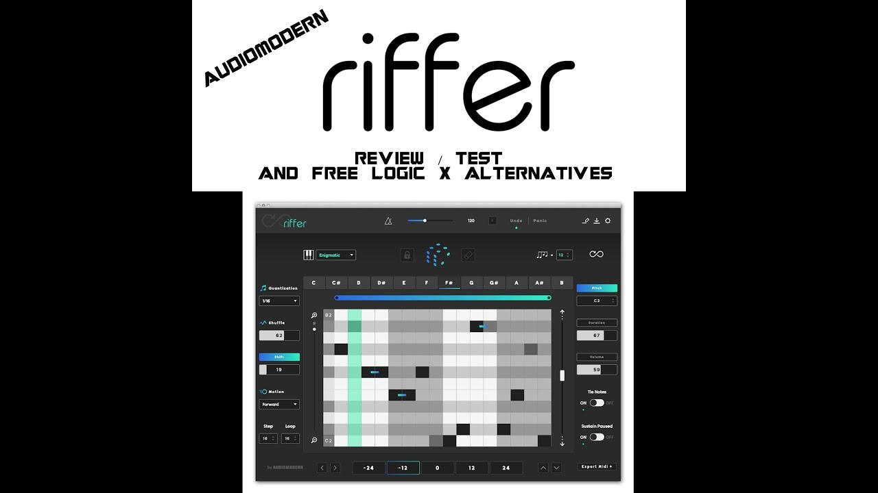 Audiomodern Riffer Test Review and How To Make Quick Melodies in Logic Pro X