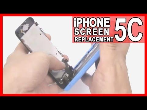 iPhone 5c Cracked Screen Repair shown in 10 Minutes