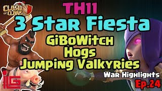 TH11 - 3 Star Fiesta - Clash of Clans - War Highlights - Ep 24