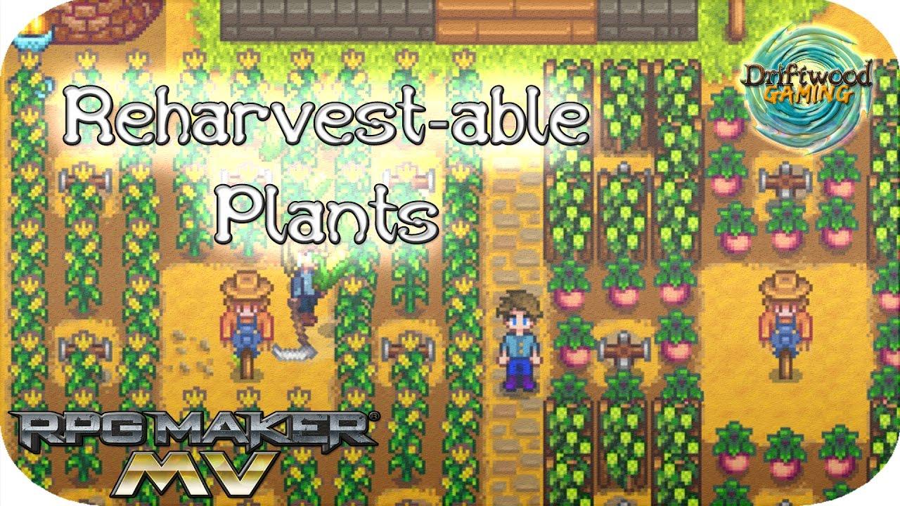 RPG Maker MV Tutorial - Galv's Event Spawn Timers Plugin - Reharvest-able  Plants - RPGMMV