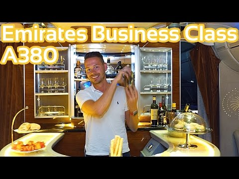 Emirates Business Class A380 | GlobalTraveler.TV