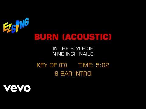 Nine Inch Nails - Burn (Acoustic Goth) (Karaoke)