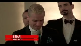 Backstreet Boys Toast at Nick's wedding