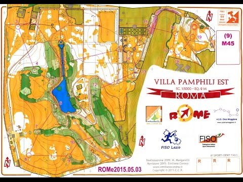 Rome Orienteering Meeting 2015, Day 3, Villa Pamphilj With Map