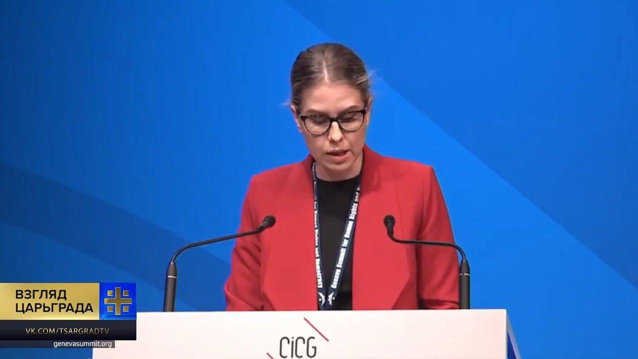 Позор Соболь в Женеве: ужасный английский и неумение читать с листа