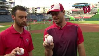 Behind the Seams: Max Scherzer demonstrates how he throws each of his pitches
