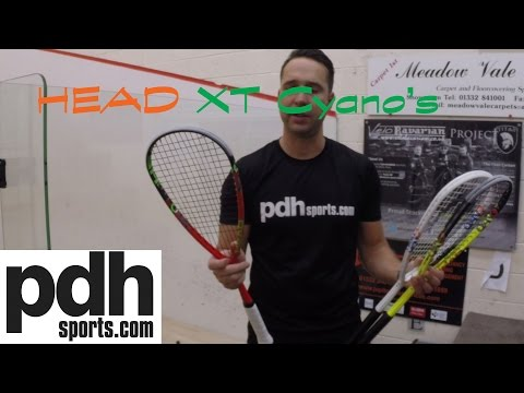 HEAD Cyano Graphene XT 110/ 120/ 135 squash rackets review by PDHSports.com