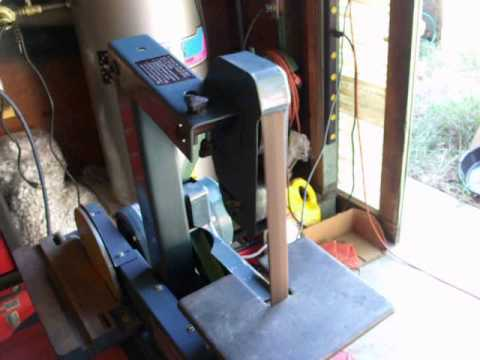 Jet 1 Quot X 42 Quot Belt Sander Grinder With 8 Quot Disk Youtube