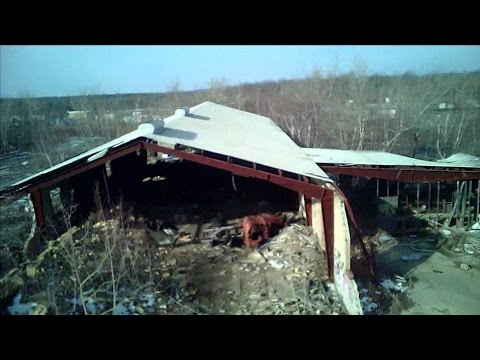 Exploring an Abandoned Brick - Coal Plant Buildings Hazleton Pennsylvania 18201 DRONE RC