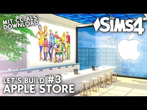Die Sims 4 Apple Store bauen | Let's Build #3 mit Apple CC-Objekten als Download