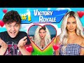 IF YOU WIN FORTNITE, I WILL DATE YOU! (NEW Girlfriend for Little Brother Jarvis)