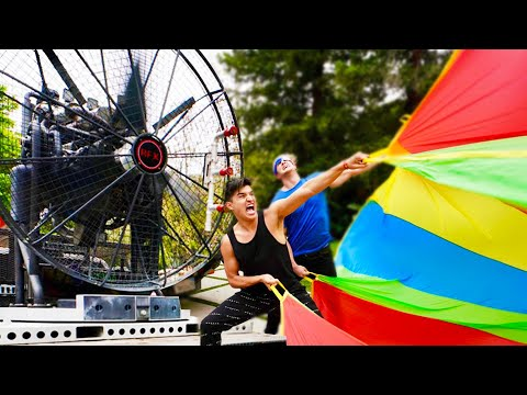 World's STRONGEST Fan VS Parachute