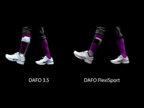 Brace movement | DAFO 3.5 and  DAFO FlexiSport side-by-side comparison