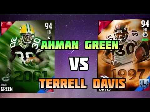 Madden 16 Ultimate Team - Terrell Davis VS Ahman Green