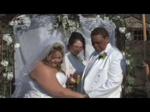 #1 Wedding Officiant Chicago Marries Same Sex Couple In Garden Ceremony at Minister