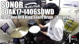 """【Ikebe channel】SONOR One of A Kind Snare Drum - Cocobolo""""【#DS渋谷試奏動画】"""