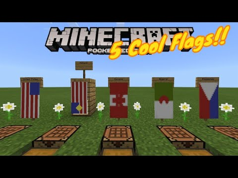 5 Country Flag Banners!! (USA, Canada, Malaysia, Philippines, Algeria) - Banners - MCPE