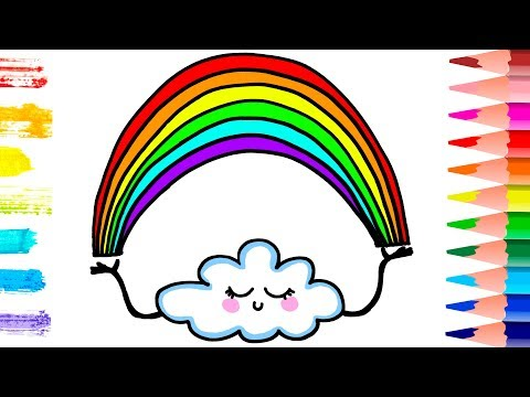 How To Draw A Rainbow Coloring Pages | Kids Songs Learn Colors | Art Colours For Children