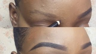 Easy Natural Eyebrow Tutorial (Updated) For Very Thin & Light Eyebrows | Christiana