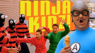 The Aquabats! Stop Bank Robbers With Ninja Kidz TV!