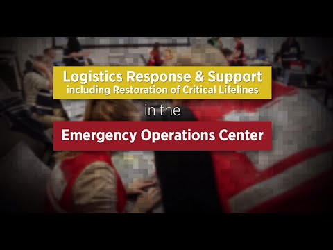 Just In Time EOC Training - Logistics Response and Support