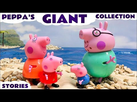 Giant Peppa Pig Story Video English Episodes Thomas and Friends Toys Surprise Eggs Juguetes Play Doh