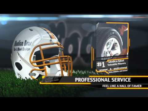 """Modica Bros """"MVPs"""" Football Commercial for southeast Texas tires and wheels"""