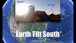 Earth tilting South - Sun too far North - Proof! - Michigan Farmer confirms Phenomenon