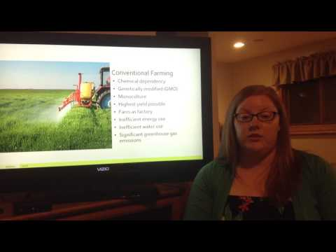 Oral Presentation on Conventional and Sustainable Farming