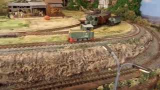 Дизельний локомотив на вузькій колії.
