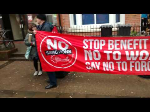 New Walk Jobcentre Protest, Leicester #No2Sanctions